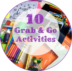 grab and go activities pic