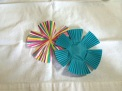 cut petals on paper liners